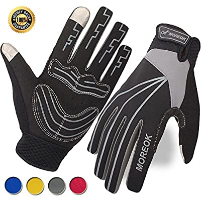Achiou Cycling Glove Touchscreen Bicycle Full Finger Gloves Mountain Bike Road Racing Anti-Skid Gel Pad Riding Work Gloves for Men and Women