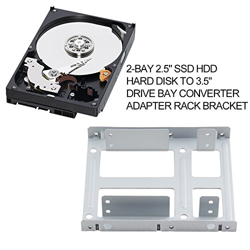 2 Inch SSD HDD Hard Disk to 3.5 Inch Drive Bay Converter Adapter Rack Bracket
