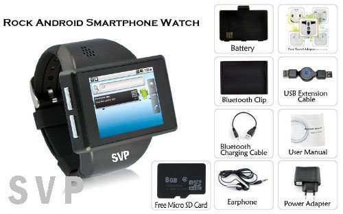 7627974eab38 Amazon.com  SVP® Smartwatch Android 2.2 Phone Bluetooth GPS - Z1 Black   Cell Phones   Accessories