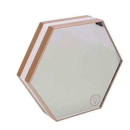 Bolange Maquillaje Espejo lámpara de Escritorio Reloj Despertador Reloj Digital táctil, luz LED retroiluminación Temperatura