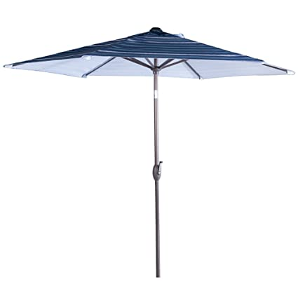 Delicieux Abba Patio Striped Patio Umbrella 9 Feet Outdoor Market Table Umbrella With  Push Button Tilt