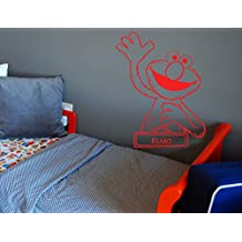 Elmo Sticker Elmo decal Elmo Wall art Sesame street Nursery room Kids bedroom Children's room Wall Art Decal Stickers tr653