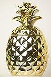 Surprise Pineapple Decorative Ceramic Jar, Gift and Christmas Item (Gold)