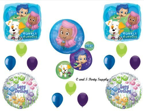 (NEW Bubble Guppies XL Birthday Party Balloons Decorations Supplies NEW! by Qualatex by)