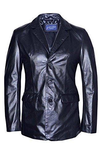 Homme Souple Nappa Veste Manteau Blazer Cuir Smart Classique Réel Range Tailorouge Noir qIzIx8vwY
