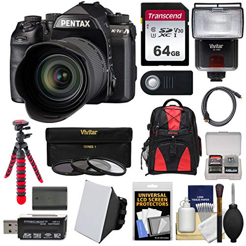 (Pentax K-1 Mark II Full Frame Wi-Fi Digital SLR Camera & FA 28-105mm Lens with 64GB Card + Battery + Flash + Backpack + Tripod + Kit)