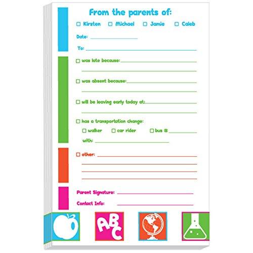 Always Prepared Excuse Pad | Personalized School Notepads for Kids | Custom Printed School Pads | Excuse Pad | Stationery for School - Excuse Pad