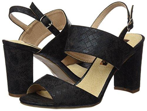 Femme black 030582 Xti Sandales Noir qRv1Aa