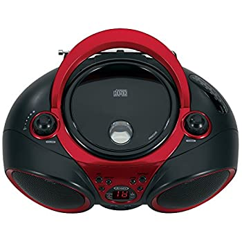 Jensen Cd-490 Sport Stereo Cd Player With Amfm Radio & Aux Line-in, Red & Black 1