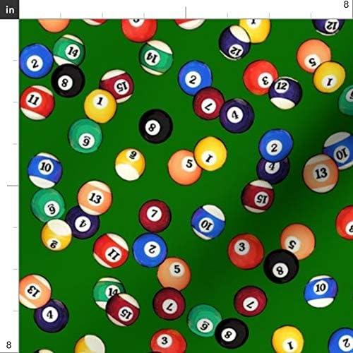 Spoonflower Tela de Billar – Bolas de Fieltro // Pub de Piscina pequeño 8 Bola Deportes Mesa 8 8 8 impresión en Tela por The Yard para Costura Manualidades Ropa Moda decoración del hogar: Amazon.es: Hogar