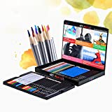 Tinpa Premium Art Pencils Pack – 60 Assorted Pencil Set for Coloring Pages & Books – Colored, Watercolor, Drawing, Charcoal and Metallic Color Pencils for Students, Kids & Adults School Supplies