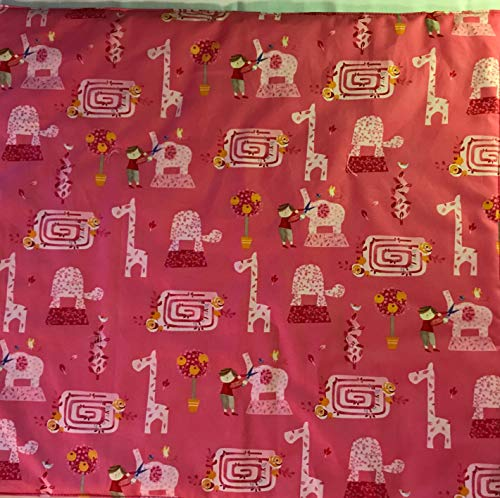 American Girl Doll Quilt, Topiary Animals doll blanket, 19