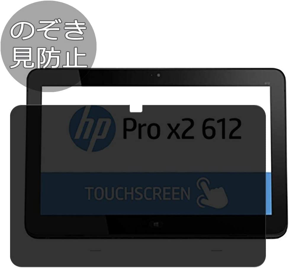 "Synvy Privacy Screen Protector Film for HP Pro x2 612 G1 12.5"" Anti Spy Protective Protectors [Not Tempered Glass]"