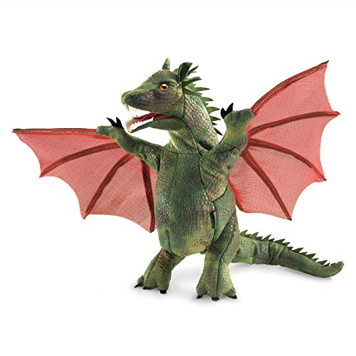 Folkmanis Winged Dragon Hand Puppet (Dragon Puppet Three Headed)