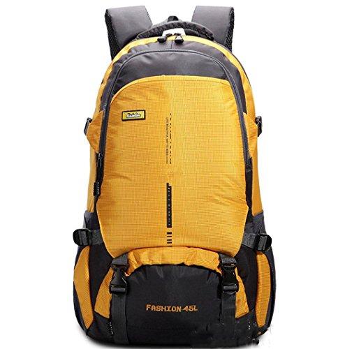 BUSL Montañismo al aire libre bolso bandoleras para hombres y mujeres mochila casual transpirable impermeable . black . 18 inch Yellow