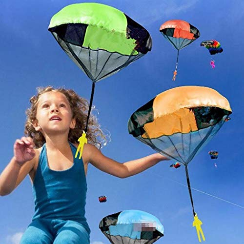 Caiuet Cartoon Soldier Shape Parachute Toys Kids Outdoor Fun Game Kites by Caiuet (Image #3)