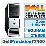 Dell Precision T7400 TWR/Xeon E5205 @ 1.86 GHz/8GB DDR2/2TB HDD/CD-RW/WINDOWS 7 PRO 64 BIT