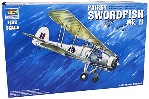 Trumpeter 1/32 Fairey Swordfish Mk II WWII Biplane Model Kit