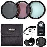 Professional 55MM VIVITAR Neutral Density Lens Filter Set + Wireless Remote Control, 8 Piece Lightweight, Compact Photography Accessories For Nikon