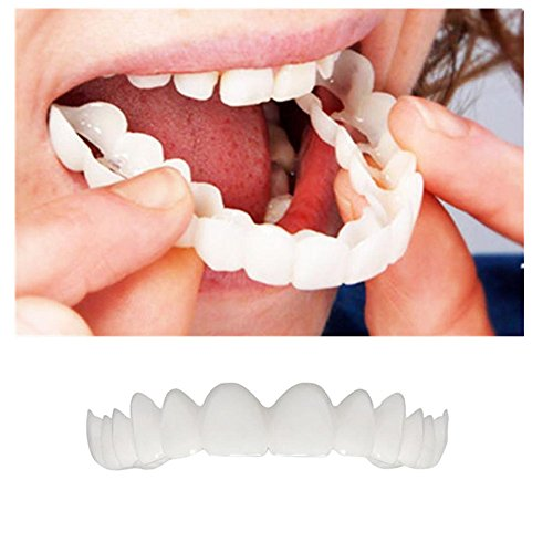 Comfort Top Kit - Convinced Braces Mouthguard Denture Teeth Top Cosmetic Veneer Instant Smile Comfort Fit Flex With FREE dental tools Hot Sale (white)