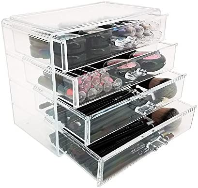 OnDisplay 4 Drawer Lily Cosmetic/Jewelry Organizer, Clear, NULL