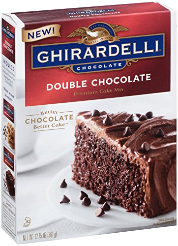 Ghirardelli Cake - Ghirardelli Double Chocolate Premium Cake Mix, 12.75-Ounce Boxes (Pack of 12)