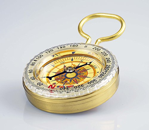 SE CC50B Glow in the Dark Brass Compass
