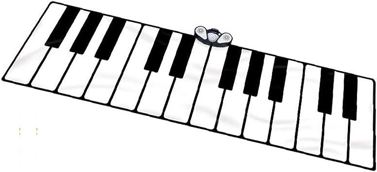 ROCK1ON Grande Alfombra para Piano, Teclado Táctil para