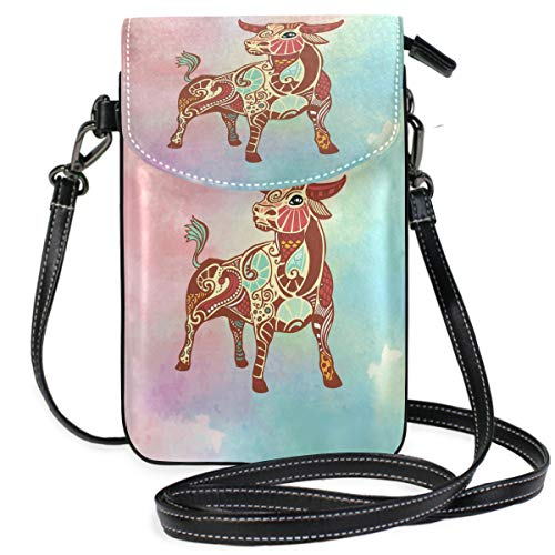 Cell Phone Bag Taurus Constellation Mini Phone Pouch Crossbody Bag with Shoulder Strap