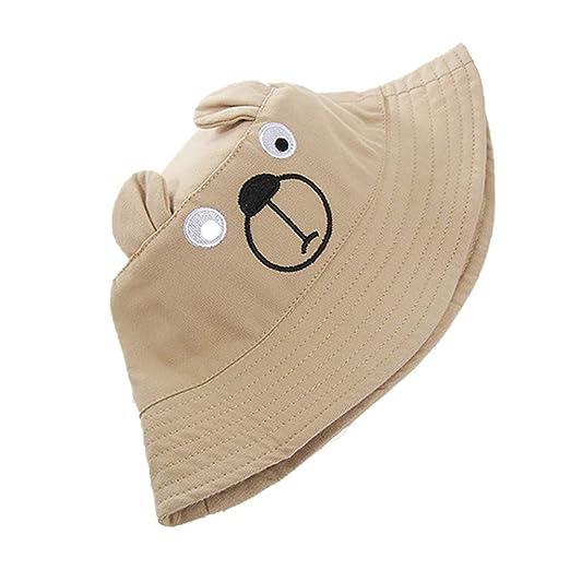 Kanggest.Gorro de Sol Verano en Forma de Oso Sombrero de Pescador ...