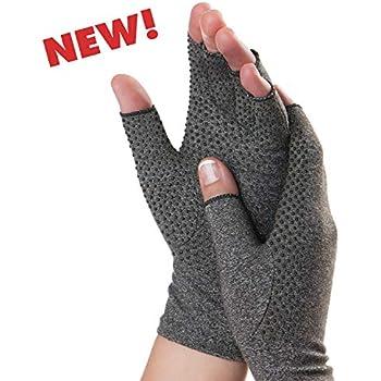 Dr. Frederick's Original Grippy Arthritis Gloves for Women & Men - Anti-Slip Compression Gloves for Arthritis Pain Relief - Rheumatoid & Osteoarthritis - Large