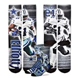 For Bare Feet Ezekiel Elliott #21 Dallas Cowboys NFL Drive Crew Socks Men's Size Medium 5-10