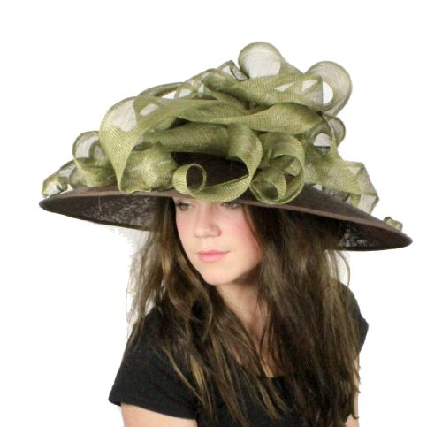 Hats By Cressida - Capeline -  Femme Marron Brown/Olive