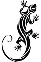 ヤモリのタトゥーシール トライバルゲッコー