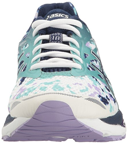 Pictures of ASICS Women's Gel-Cumulus 18 running Shoe Asics Blue/Silver/Safety Yellow 6