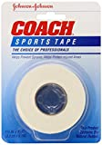 Johnson & Johnson Coach Sports Tape 1 1/2 Inch x 10 Yards (Pack of 3)