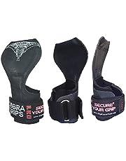 Cobra Grips PRO tyngdlyftningshandskar tunga remmar alternativa kraftlyftkrokar för marklyft justerbar neopren vadderad handledsstöd bodybuilding