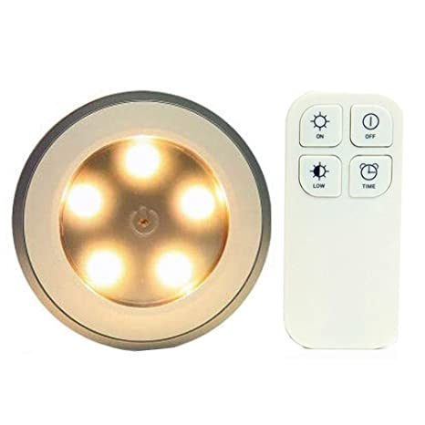 Amazoncom Redgo Wireless Remote Control Light 5 Led Bedside Lamp