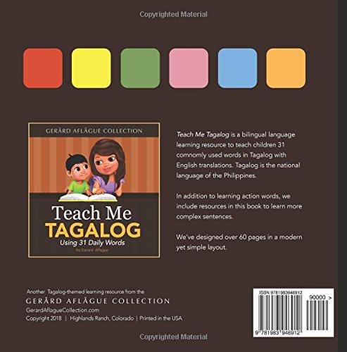Teach Me Tagalog: Using 31 Daily Words: Gerard Aflague