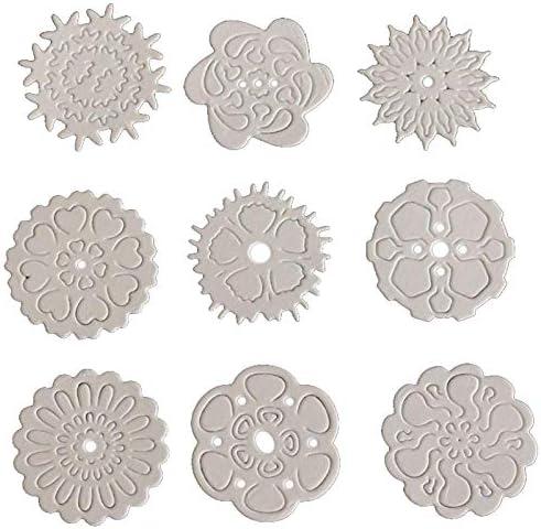 Plata wwzEITpV 4pcs Troqueles De Corte Troqueles De Corte De Metal Plantillas del Copo De Nieve De Metal para Que Hace DIY De Papel De Scrapbooking