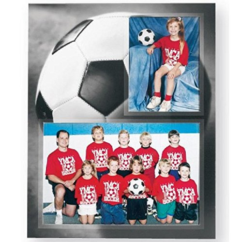Soccer Player/Team 7x5/3.50x5 MEMORY MATES cardstock double photo frame sold in 10's - 5x7 for $<!--$17.30-->