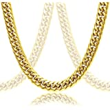 Thick 18k Gold Plated Cuban Link Chain For Men + Luxury Gift Case