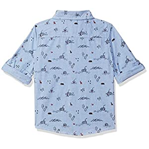 Max Boy's Plain Regular fit Shirt (W19DHS04BLUE_ Blue 3-4Y)