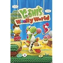 Yoshis Woolly World Nintendo Wii U Side Scrolling Platformer Video Game Cover Box Art Poster - 24x36