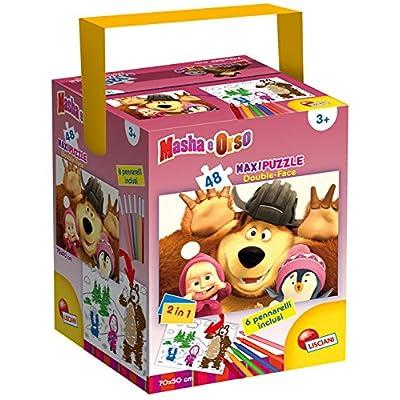 Lisciani 51298 Masha Funny Faces Puzzle Fustino Maxi 48 Pezzi