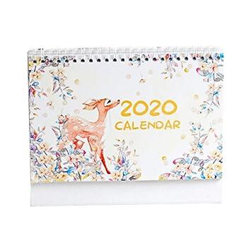 TOMATION Calendario de escritorio 2020 Calendario creativo ...