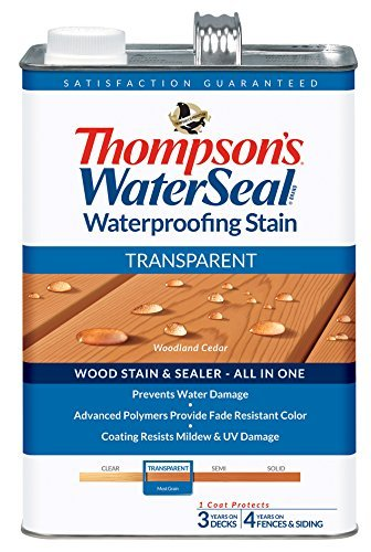 THOMPSONS WATERSEAL 041851-16 Transparent Stain, Cedar by Thompson's Water Seal (Thompson's Water Seal Outdoor Furniture)