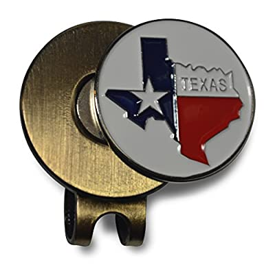 Cap Clip with Texas Magnetic Golf Ball Marker