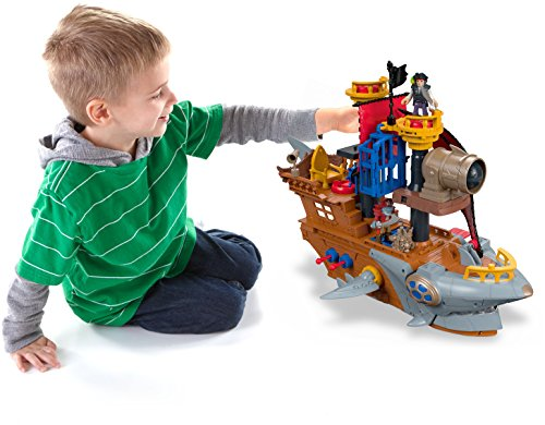 Fisher-Price Imaginext Shark Bite Pirate Ship (Ship Toy)