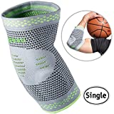 Velpeau Elbow Brace Compression Sleeve with Gel Pads Support for Tendonitis